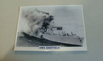 1982 HMS Sheffield Destroyer  warship framed picture